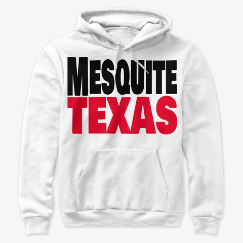 Mesquite Texas red and white